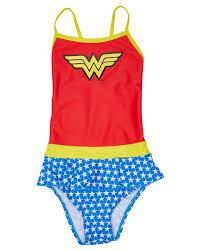 Girls Wonder Woman Swim Dress Kids