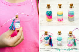 this unicorn necklace kids craft is magical kids will love creating their own jars of