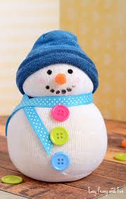 no sew sock snowman craft