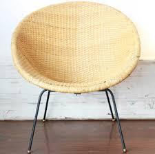 Mid Century Modern Wicker Hoop Chair Online Interior Design