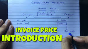 Invoice Price Consignment Account Invoice Price Financial Accounting By Saheb Academy