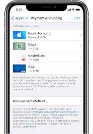change add or remove apple id payment
