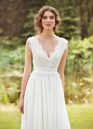 french country wedding dress. designer wedding dress bohemian made from chiffon, french lace , natural silk with pearls country l