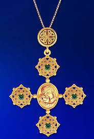 celtic knot cross pendant with madonna and child icon silver 925 gold plated loading zoom