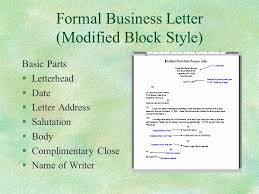 Formal Business Letter Template New Formal Letter Format To ...