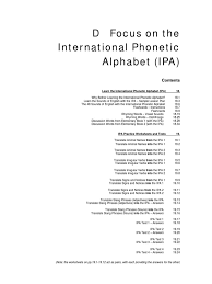 Prep for a quiz or learn for fun! 14420427 Focus On The International Phonetic Alphabet Ipa English Language Consonant