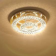 saint mossi modern k9 crystal led 2 ring chandelier lighting flush mount ceiling light fixture lamp