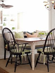 Country Dining Tables This Country Dining Setting Features A Farmhouse Table With Black