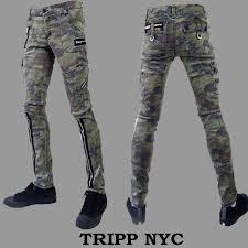 Tripp black military bondage dress