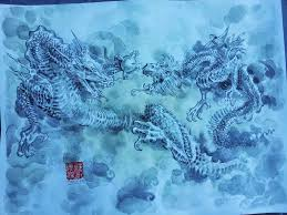 traditional asian dragon painting by dreamflux1
