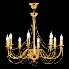 Kronleuchter Retro 8 Flammig Gold 120cm Abh