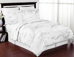 grey black and white marble 3pc teen full queen bedding set collection by sweet jojo designs only 119 99