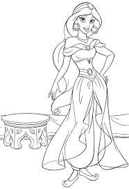 Princess Jasmine Coloring Pages Print Disney To Page Pdf Mebelmag