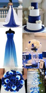 Blue and white wedding #bridesmaid #dress.