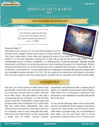 study 18 spiritual gifts fruit the wonders of pentecost grace 4 you ministries inc
