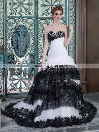white and black lace mermaid gothic wedding dress darkincloset com