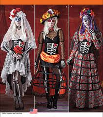 Simplicity Patterns Costumes Mesmerizing Simplicity Patterns 48Misses' Day of the Dead Costumes JOANN