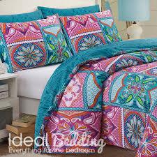 pieridae patchwork mandala pink duvet quilt bedding cover and pillowcase bedding set duvet sets complete bedding sets bed sheets pillowcase