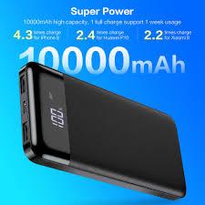 Floveme Power Bank 10000 MAh Pin Dự Phòng Sạc Bộ Sạc Nhanh Dự Phòng  Powerbank 10000 MAh 2 Cổng USB Sạc Cho iPhone Xiaomi mi|Sạc dự phòng