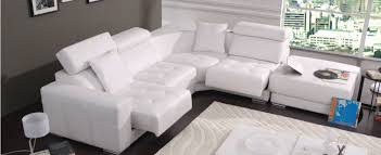 capitare italian leather sectional with ottoman and recliners contemporary sectional