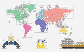 Smart World Map Infographics Powerpoint Template 75227