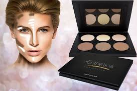 face contouring makeup kit aesthetica cosmetics contour and highlighting powder foundation