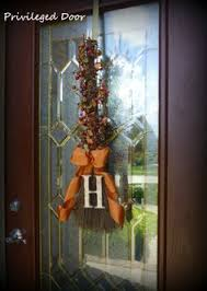 cinnamon broom decorating ideas 20 festive fall door decorations that arent wreaths pinterest