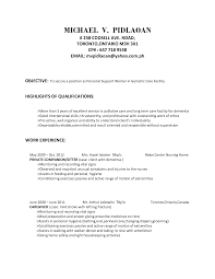Cover Letter Resume Sample For Caregiver Sample Resume For