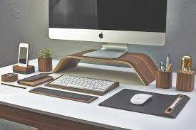 office desktop accessories.  Desktop Grovemade Apple And Desk Accessories On Office Desktop F