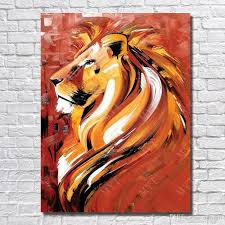 lion painting acrylic.  Lion 2018 Strong Lion Pictures Hand Painted Acrylic Animal Oil Painting For  Living Room Wall Decoration Wild From Ouweili 764  DhgateCom To
