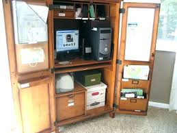 home office hideaway. Hideaway Computer Cabinet Large Size Of Desks Home Office Tucked In A Corner Cabinets Modern Design Oak