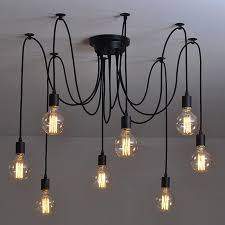 modern nordic industrial edison chandelier light vintage regarding incredible home down lighting chandelier designs