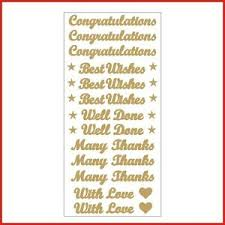 Words For Congratulations Details About Congratulations Best Wishes Words Vinyl Stickers Letters 13 Decals Card Making