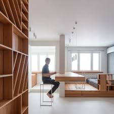 apartment architecture design. Exellent Apartment Ruetemple Creates Small Spartan Apartment In Moscow In Apartment Architecture Design R