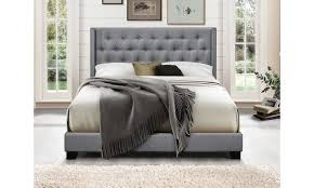 Modern upholstered bed High Back Groupon Up To 54 Off On Brady Modern Upholstered Bed Groupon Goods
