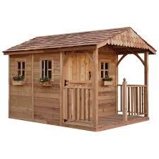garden sheds home depot. Outdoor Living Today Santa Rosa 12 Ft. X 8 Cedar Garden Shed-SR812 - The Home Depot Sheds E