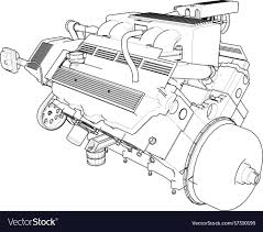Modern car engine drawing photo electrical wiring diagram ideas