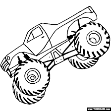 Small Picture Monster Trucks Online Coloring Pages Page 1