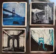 a stunning set of four 4x4 glass coasters or wall art that are sure to be
