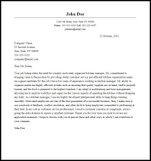 Professional Kitchen Manager Cover Letter Sample Writing Guide