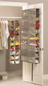 behind the door portable hanging shoe rack storage for saving small closet ideas