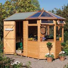 7 rowlinsons wooden garden potting shed