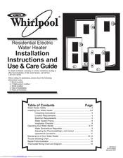 whirlpool e1f50rd045v manuals Whirlpool Hot Water Heater Wiring Diagram whirlpool e1f50rd045v installation instructions and use & care manual (16 pages) residential electric water heater whirlpool hot water heater wiring diagram
