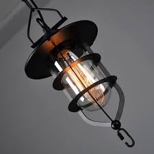 winsoon vintage industrial metal ceiling pendant light cage glass shade chandelier lamp all s