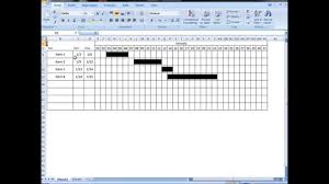 how to make a time schedule in excel excel tutorial make interactive visual schedule gantt chart