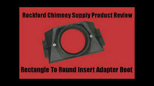 wood stove chimney adapter boot rectangle to round by rockford chimney supply