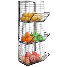 Amazon.com: Rustic Brown Metal Wire 3 Tier Wall Mounted Kitchen - HD  Wallpapers