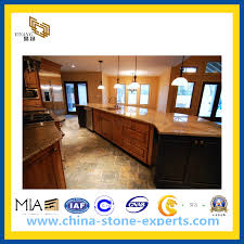polished bullnose wooden yellow marble countertop yqg mc1006
