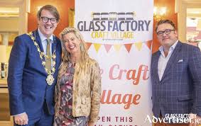 pictured at the opening of the craft village are mayor niall mcnelis hazel hendy