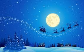 christmas night wallpaper. Fine Christmas Santa Into The Winter Christmas Night Free HD Wallpaper On Cave